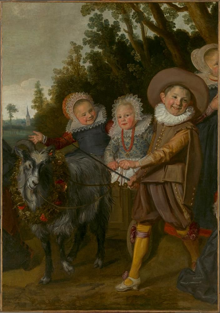 The Hals work formerly known as 'Three Children With a Goat Cart,' which is a fragment of his 'The Van Campen Family in a Landscape' (c. 1623-25)
