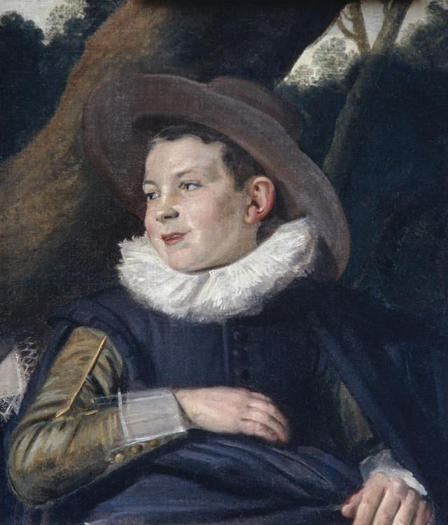 The Hals work known as 'Head of a Boy,' which is a fragment of his 'The Van Campen Family in a Landscape' (c. 1623-25)