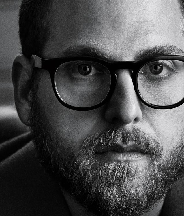 """CLOSE-UP """"I just want to make things from my heart,"""" says Jonah Hill. """"That's all I care about."""" Ermenegildo Zegna coat, $5,695, Ermenegildo Zegna, 663 Fifth Avenue, New York, and Hill's own glasses worn throughout."""