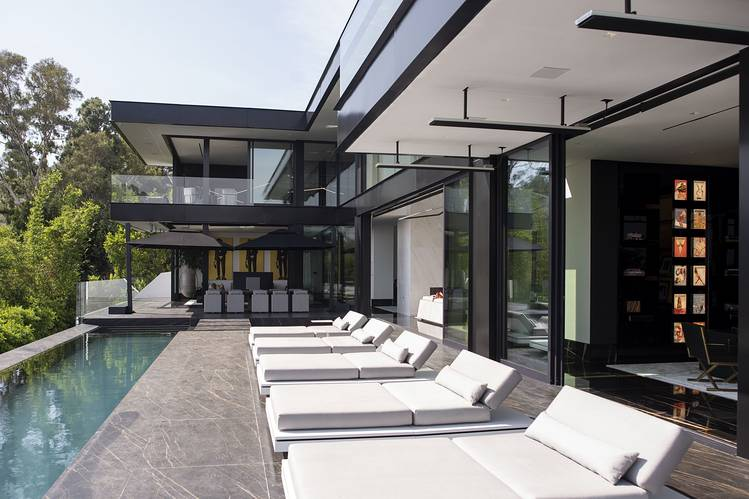 """The West Hollywood home of Nile Niami, the builder behind """"The One,"""" a $500 million house under construction in Bel Air, and """"Opus,"""" a $68 million entry in Beverly Hills."""