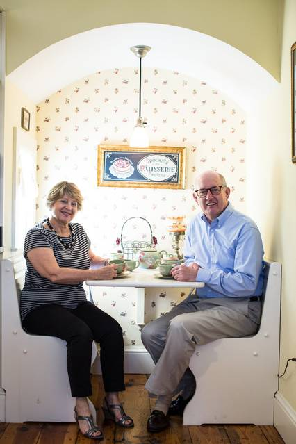 Jeff and Maryan Muthersbaugh own the Nehemiah Brainerd House Bed and Breakfast, a 1765 post-and-beam Colonial home in Haddam, Conn.
