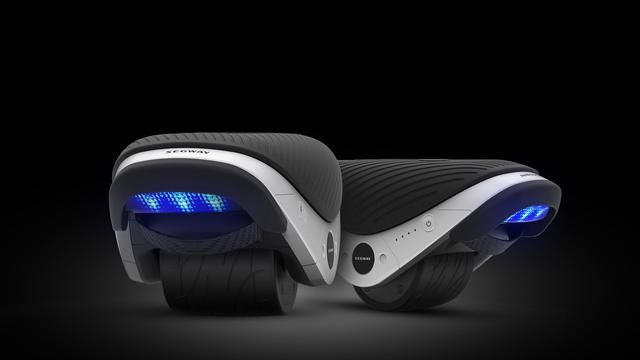 Segway's futuristic, if precarious, Drift W1 in-line skates.