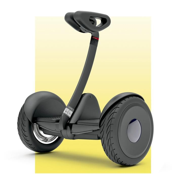 ROLL PLAY The Ninebot S shrinks the best aspects of Segway's famous PT model into a carryable size.