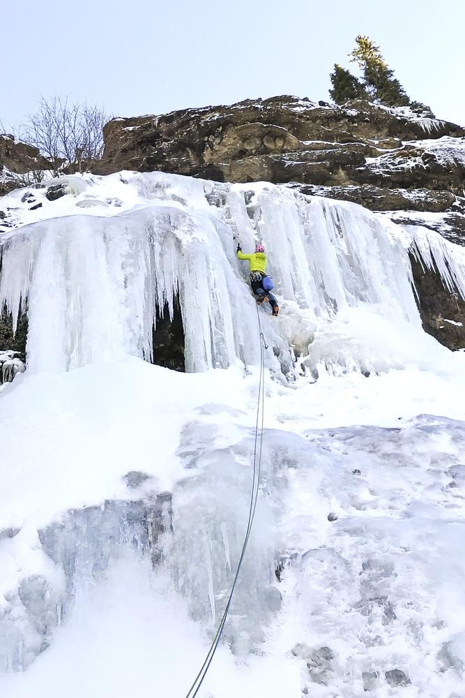 'Even on the coldest days I'd rather be climbing,' says Ms. Limbach, seen here in Bozeman, Mont., last winter.