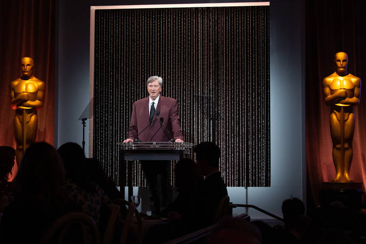 'Move quickly!' At a lunch this month, Academy President John Bailey urged nominees to hotfoot it to the stage at the Oscars ceremony.