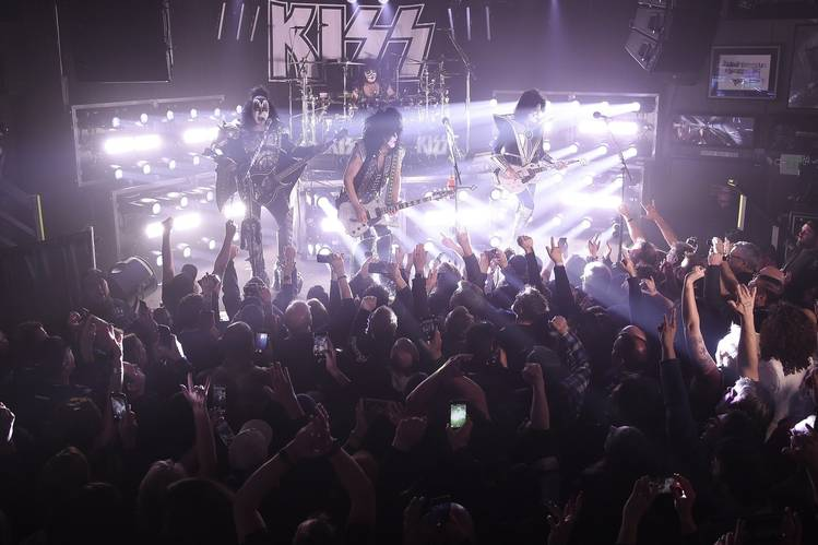 KISS at the Whisky a Go Go earlier this month in West Hollywood, Calif.
