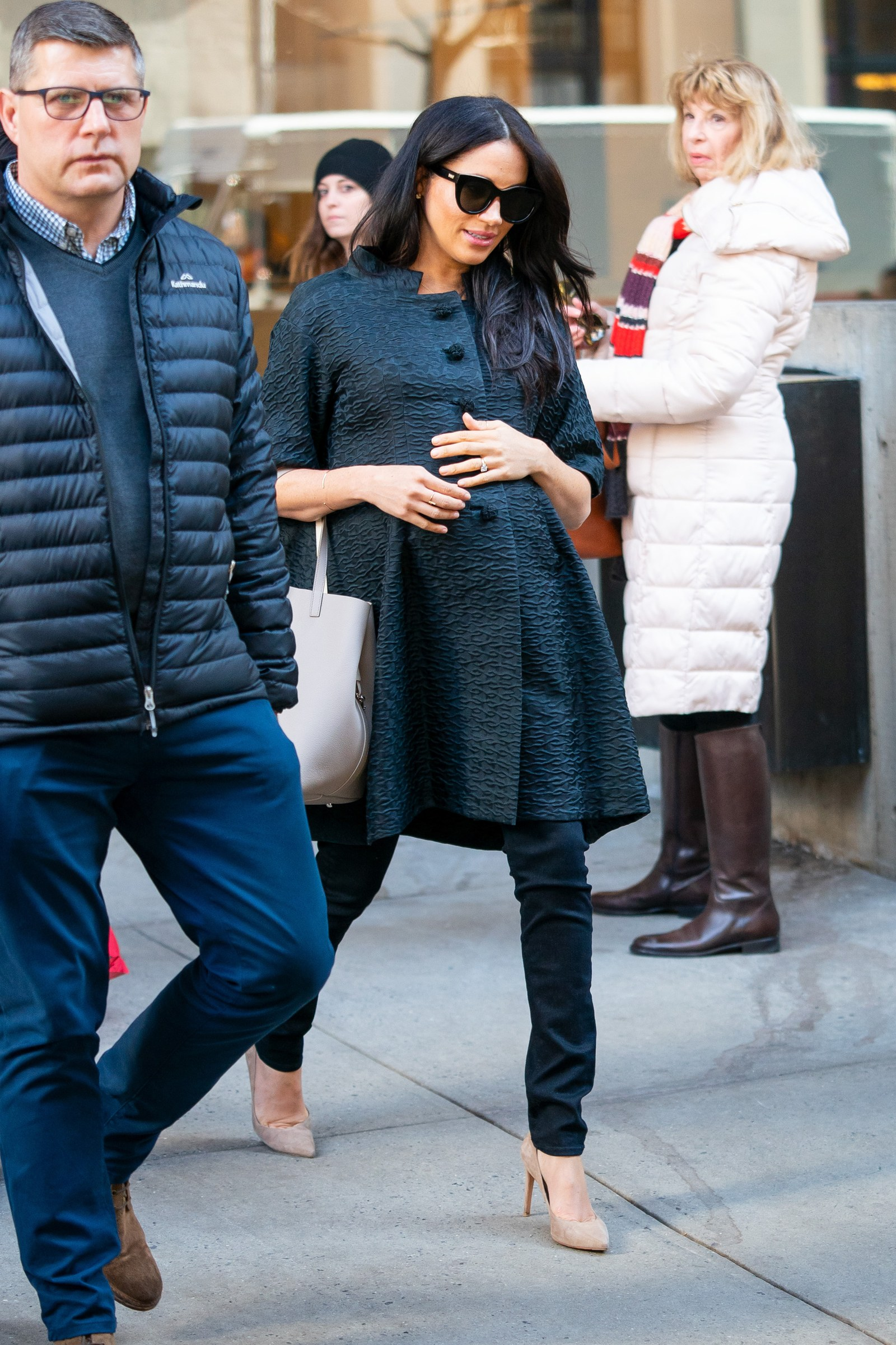 Meghan Markle arriving at her baby shower in New York City