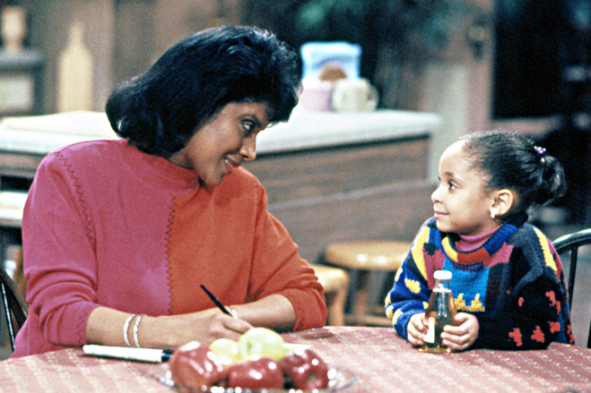 Ms. Rashad, left, and Raven-Symoné in a scene from 'The Cosby Show.'