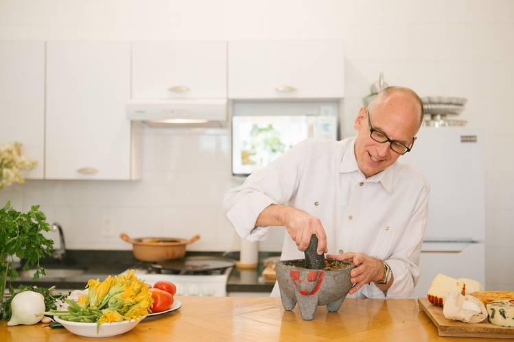 TASTE MAKER James Oseland in his Mexico City kitchen.