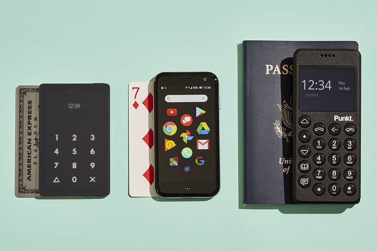 DIMINISHING RETURNS? The sizes of the Light Phone, Palm and Punkt constrain how much you can do with a phone. But that's the point.