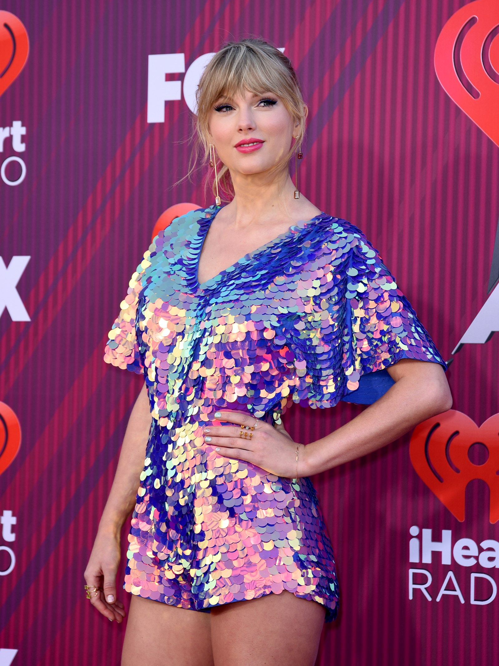 Taylor Swift on the iHeart Radio Music Awards red carpet