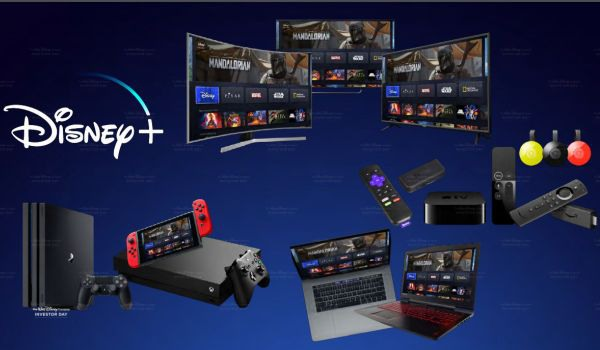 Disney+ potential streaming devices, smart TVs, game consoles, etc.