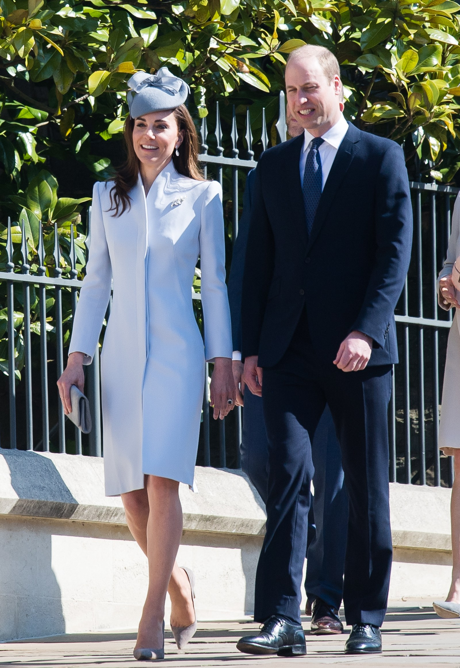 Catherine Duchess of Cambridge and Prince William Duke of Cambridge attend Easter Sunday service