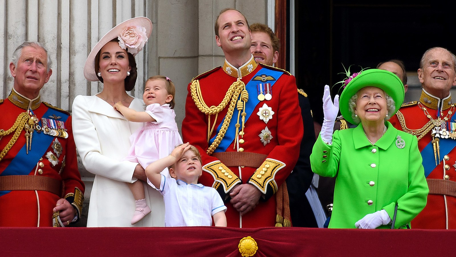 The royal family at Trooping the Colour in 2016.