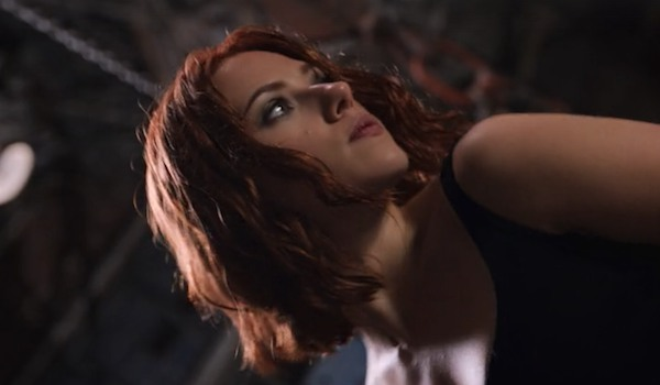 Scarlett Johansson as Black Widow in Avengers