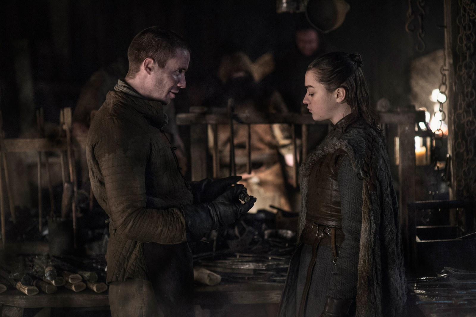 Arya and Gentry on Game of Thrones
