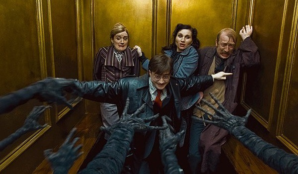 Harry Potter And The Deathly Hallows Part 1 cast face bad guys