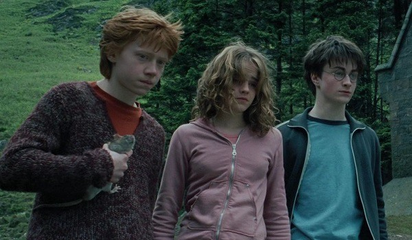 Harry Potter And The Prisoner Of Azkaban teens Ron, Harry and Hermione