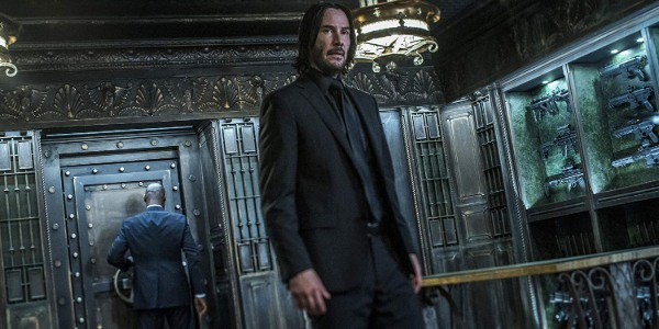 John Wick: Chapter 3 John standing in The Continental's armory
