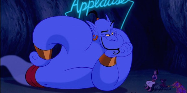 Robin Williams as Aladdin's Genie Disney classic 1992