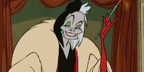 Cruella de Vil and her menacing grin