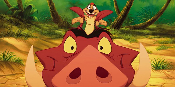 Timon and Pumbaa have no worries