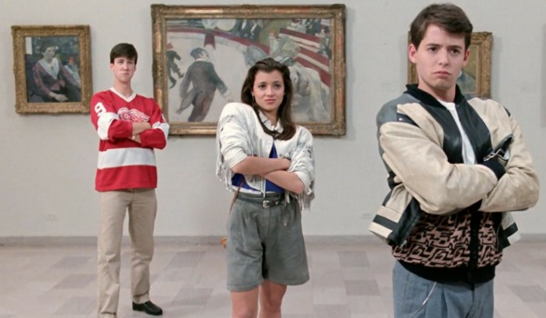 Ferris Bueller's Day Off Cameron, Sloane, and Ferris goofing off in an art museum