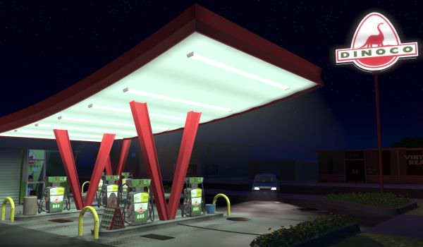 Dinoco gas station