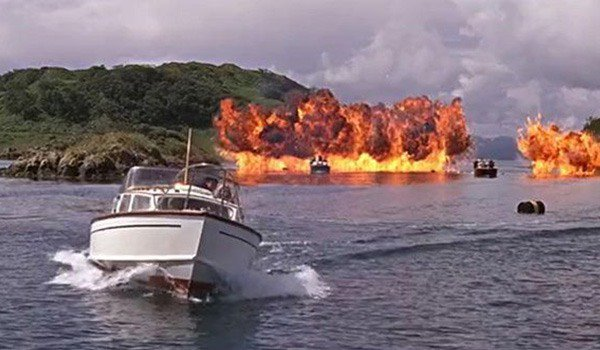 The boat chase at the conclusion of From Russia With Love