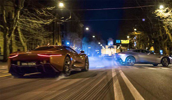 The car chase scene in Spectre