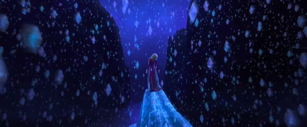 Elsa surrounded by crystals in Frozen II