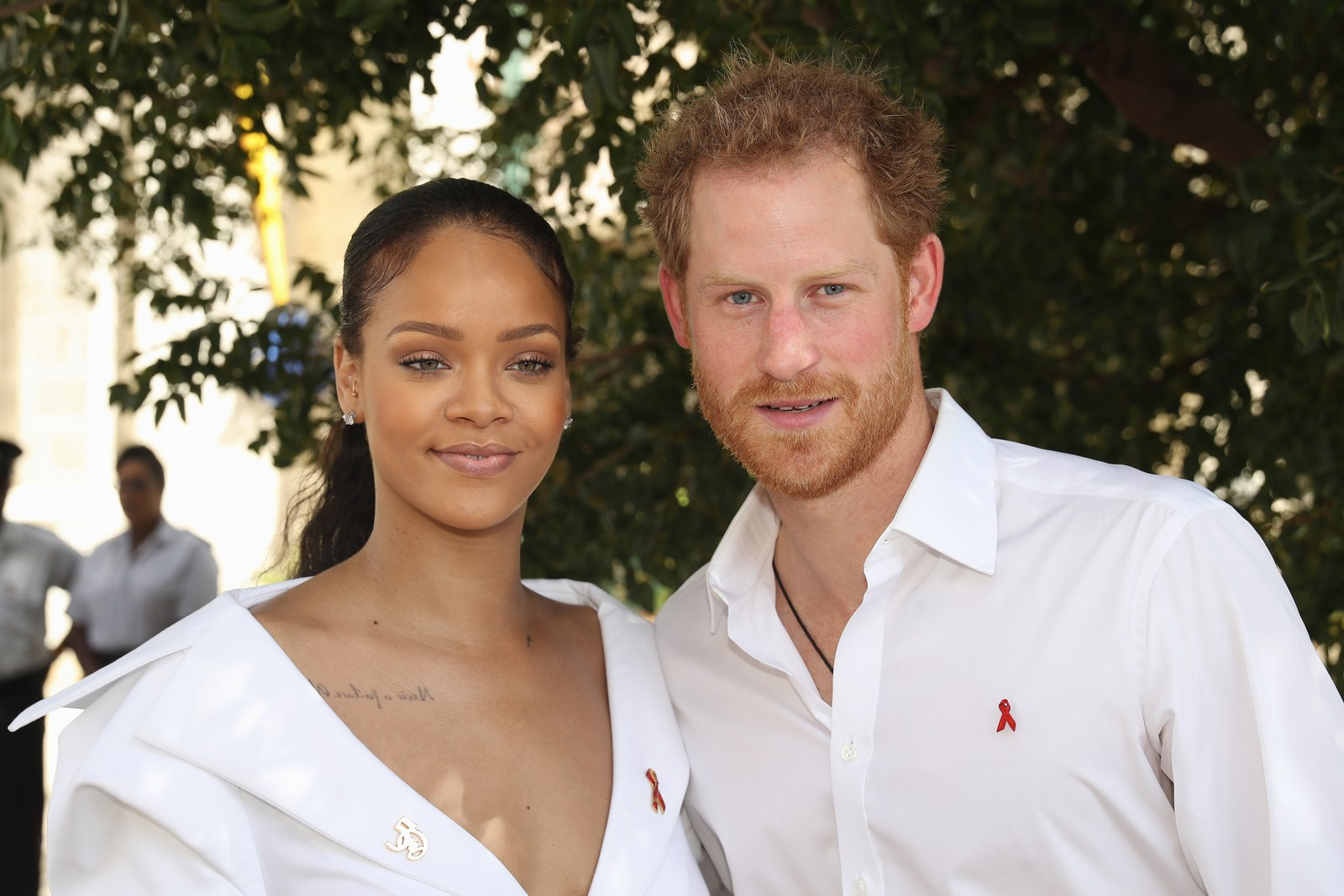 Rihanna and Prince Harry at an engagement together in December 2016.