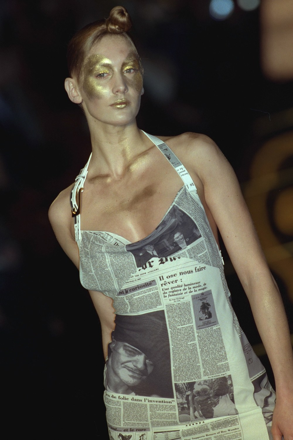 pLooks from Dior's Fall 2000 collection featuring quotChristian Dior Dailyquot prints.p