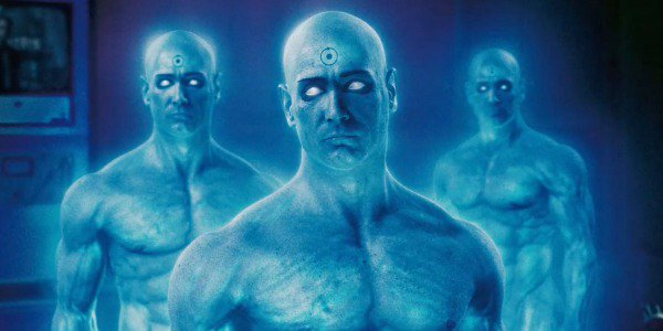 Billy Crudup as Dr. Manhattan in 2009's Watchmen film