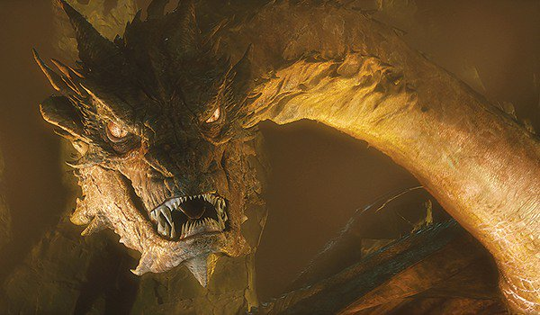 Benedict Cumberbatch as Smaug in The Hobbit