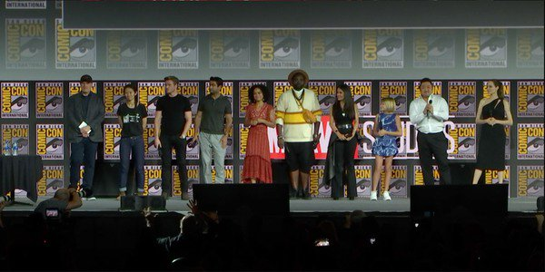 The Eternals cast at San Diego Comic-Con