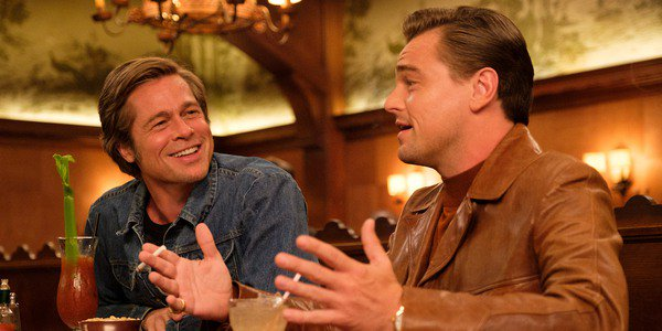 Brad Pitt and Leonardo DiCaprio as Cliff Booth and Rick Dalton in Once Upon a Time in Hollywood