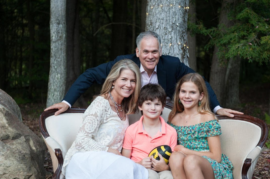pThe author with her husband and children.p