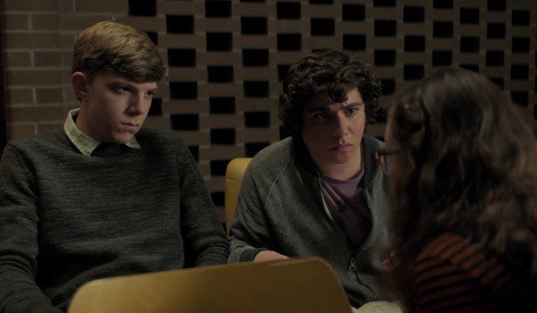 Scary Stories To Tell In The Dark Auggie and Chuck listen to Stella tell them a story in the auditor