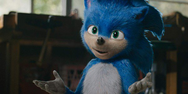 Sonic The Hedgehog gestures that he doesn't know what to say