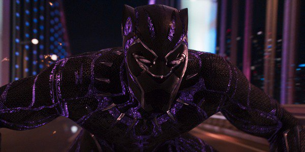 Black Panther suit in chase scene