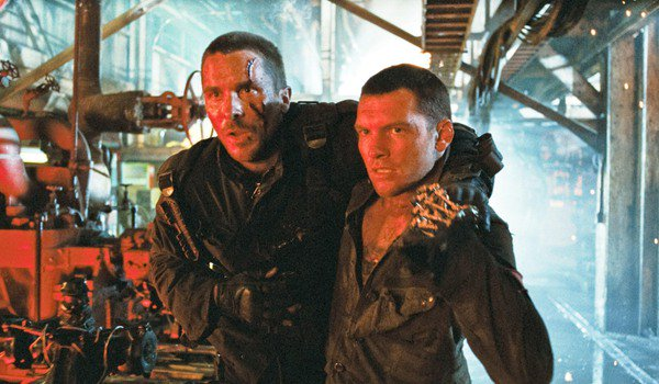 Terminator: Salvation John Connor and Marcus Wright make their way through the machine factory