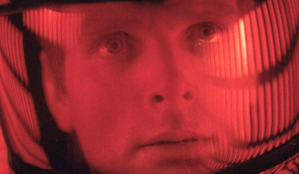 2001: A Space Odyssey closeup red tint