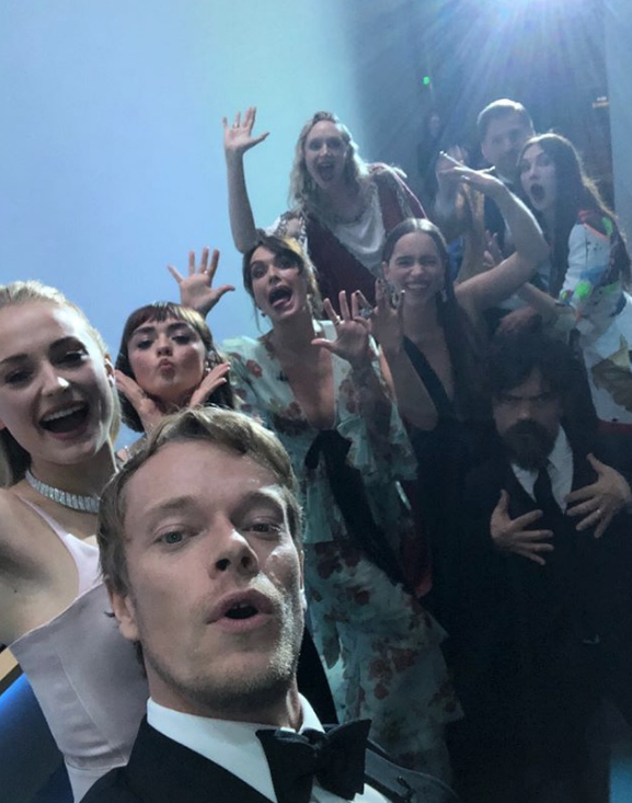 A Game of Thrones cast selfie.