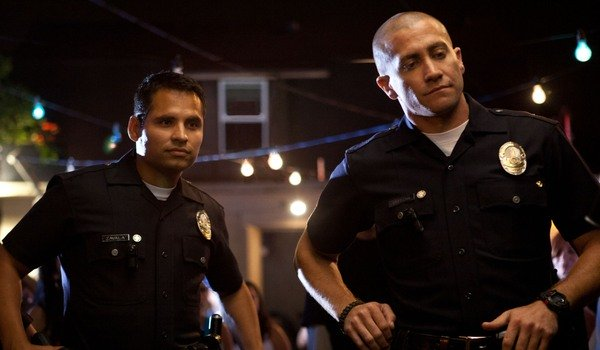 End Of Watch Michael Peña and Jake Gyllenhaal arrive on the scene of a crime