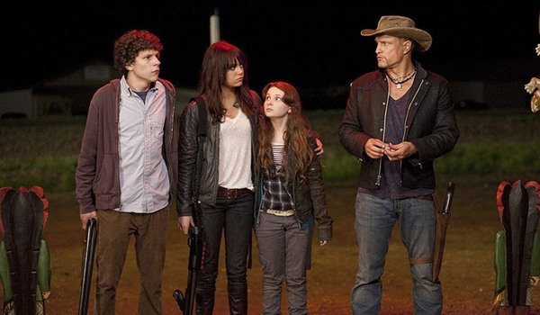 Zombieland the gang gets ready to enter the general store
