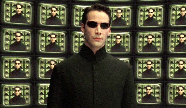 The Matrix Reloaded Neo listens to The Architect's speech