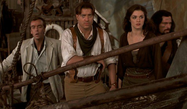 The Mummy Returns Jonathan, Rick, Evelyn and Ardeth see danger up ahead