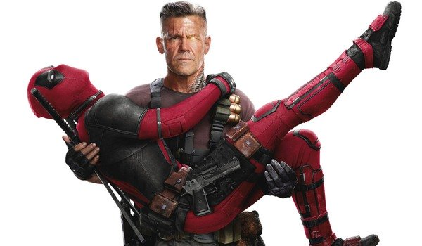 Deadpool 2 Cable holding a dramatic Deadpool in his arms
