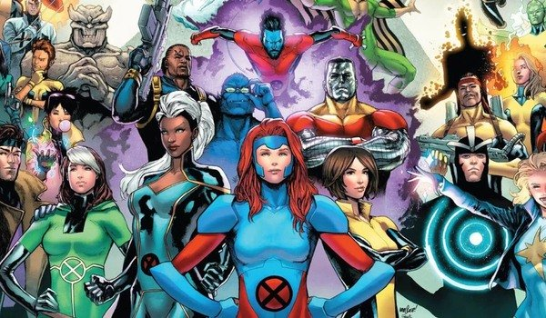 X-Men various mutants lined up, in costume